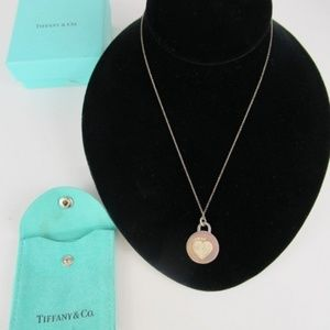 Tiffany & Co 925 Silver Clinique Necklace W/Heart